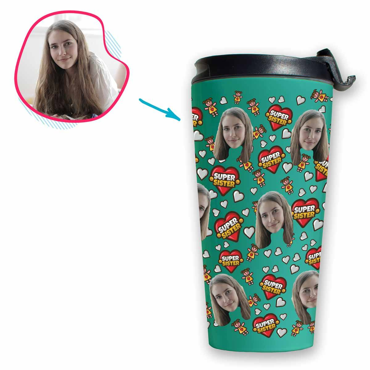 Super Sister Personalized Travel Mug