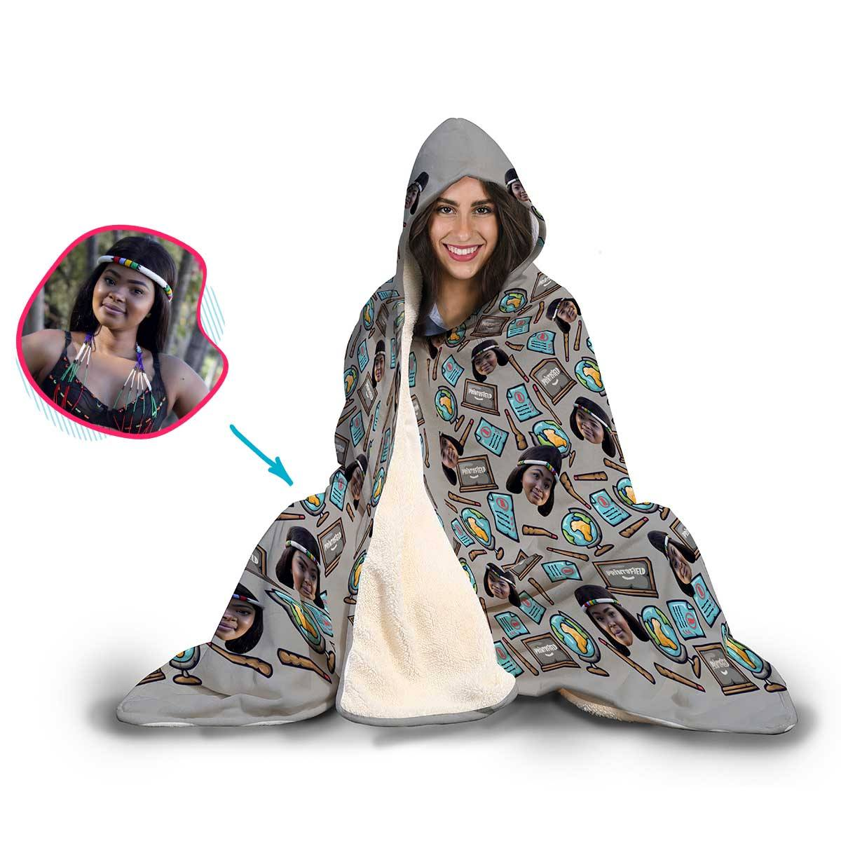 Teacher Personalized Hooded Blanket