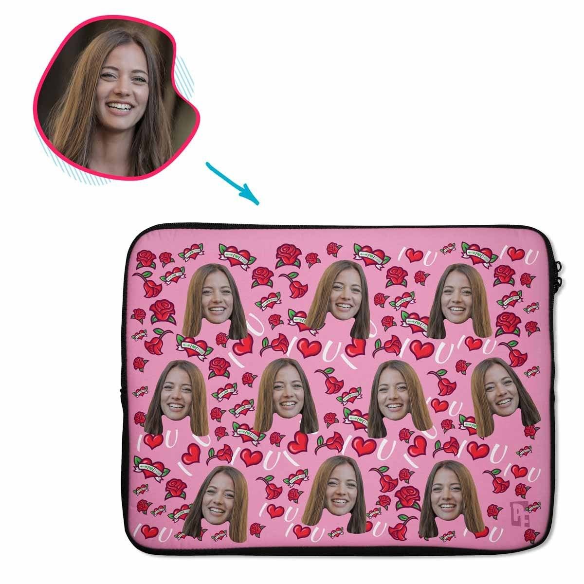 Valentines Personalized Laptop Sleeve