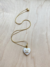 Load image into Gallery viewer, White Enamel Heart Necklace