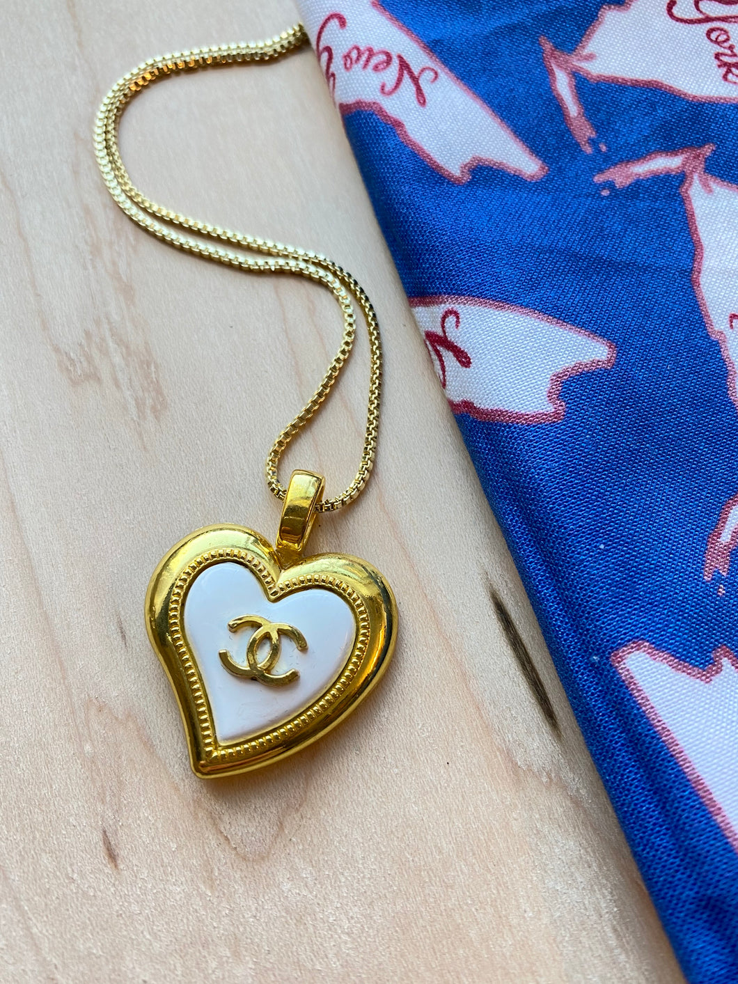 Upcycled Heart Necklace