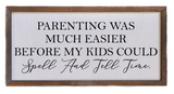 Copy of 12x6 Spell and Tell Time Wall Sign or Desk Sitter