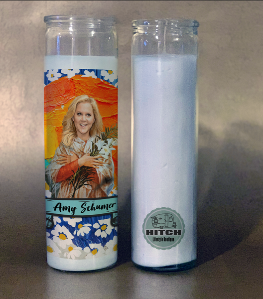 Amy Schumer Prayer Candle.