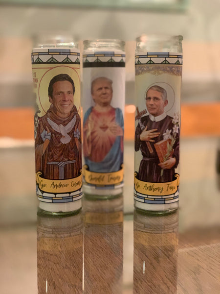 Andrew Cuomo prayer candle