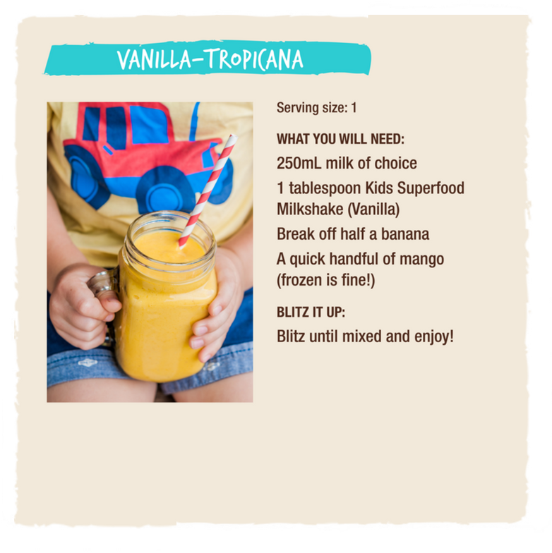 SUPERFOOD MILKSHAKE VANILLA - KIDS