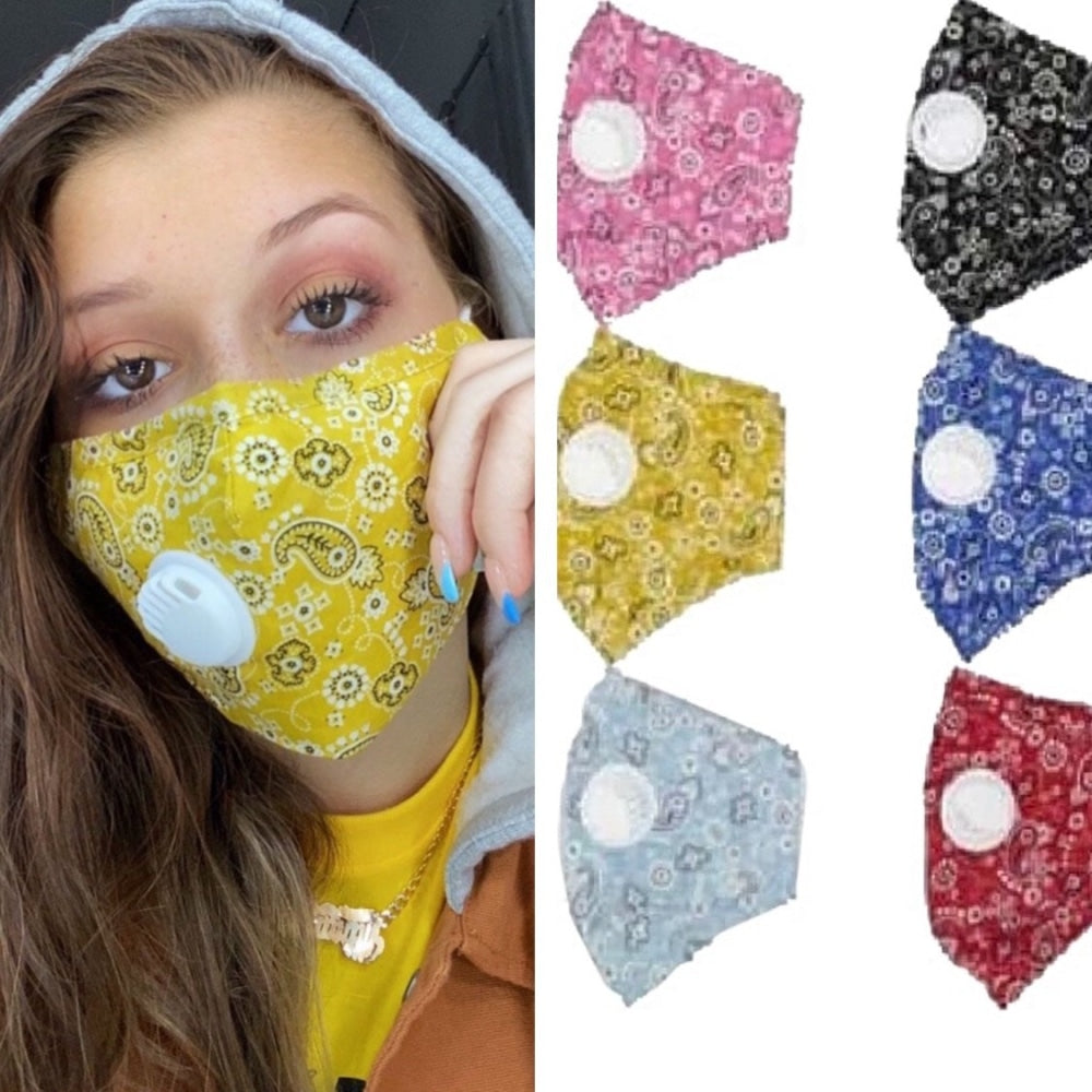 Bandana Face Mask W/PM 2.5 Filter Valve