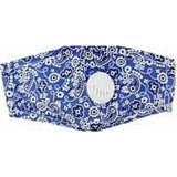 Bandana Face Mask W/PM 2.5 Filter Valve - Denim Blue
