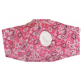Bandana Face Mask W/PM 2.5 Filter Valve - Pink