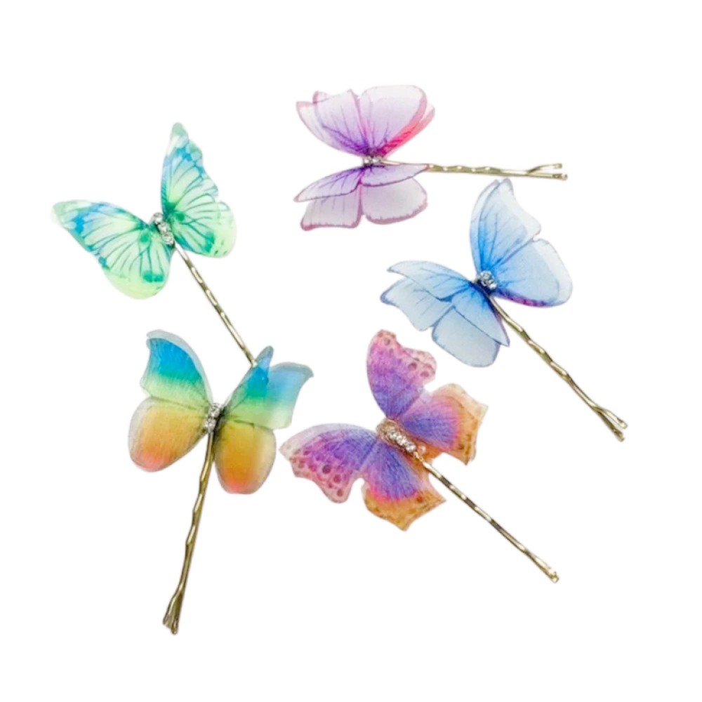 Lace Butterfly Hairpins 6PCS
