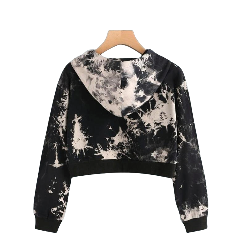 Feitong 2017 New Hooded Pullovers Womens Sweatshirts Women Sexy Printed Long Sleeve Short Sweatshirt Hoodies Hip hop Crop Tops
