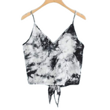 Reversible Tie Crop Top - Grunge / S
