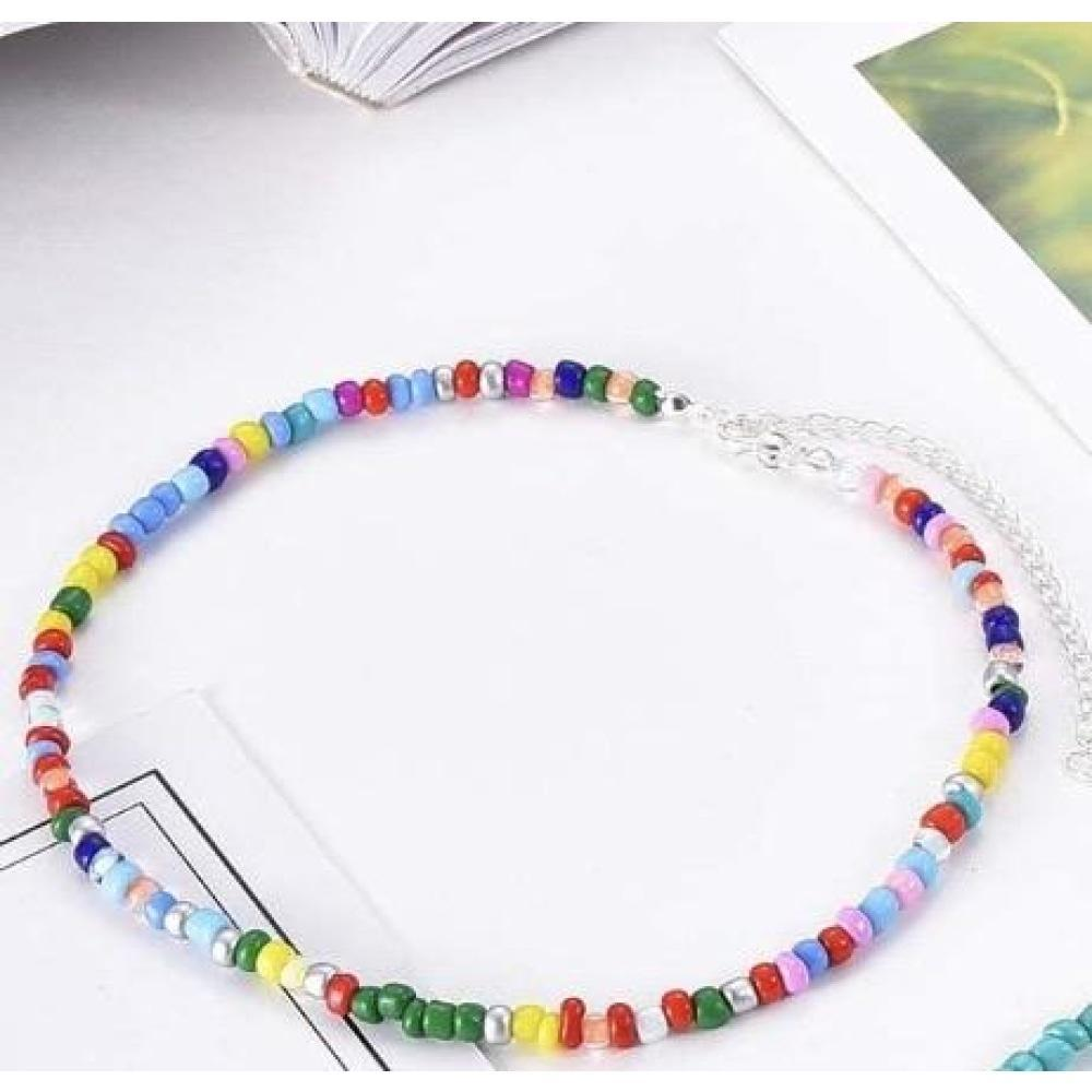Natural Rainbow Bead Choker