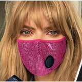 Sequin Face Mask W/PM 2.5 Filter Valve