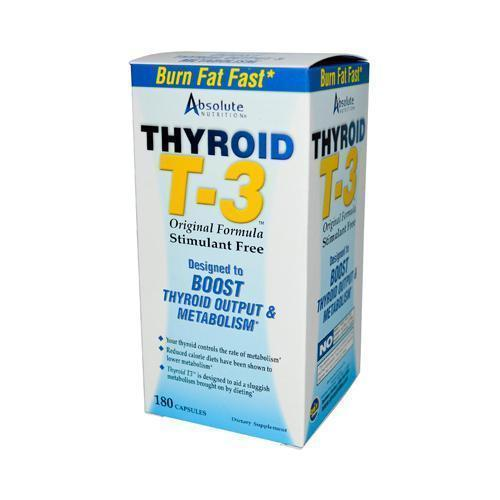 Absolute Nutrition Thyroid T-3 (180 Capsules)