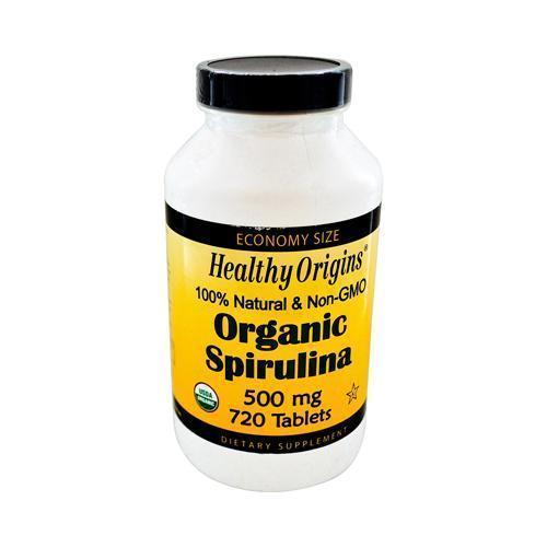 Healthy Origins Organic Spirulina 500 mg (1x720 Ct)