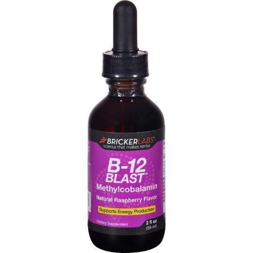 Bricker Labs B 12 Blast  Methylcobalamin  Natural Raspberry  2 oz