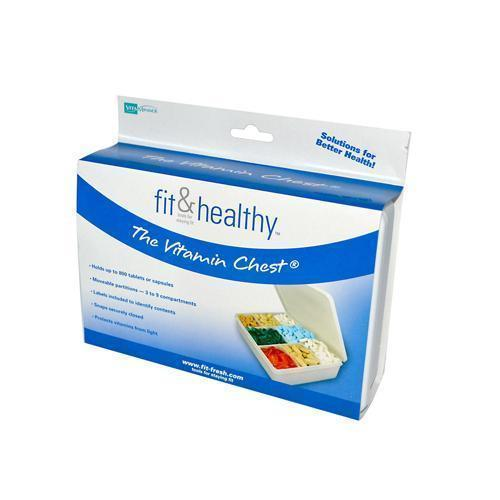 Fit and Healthy Vitamin Chest Organizer 1 Unit