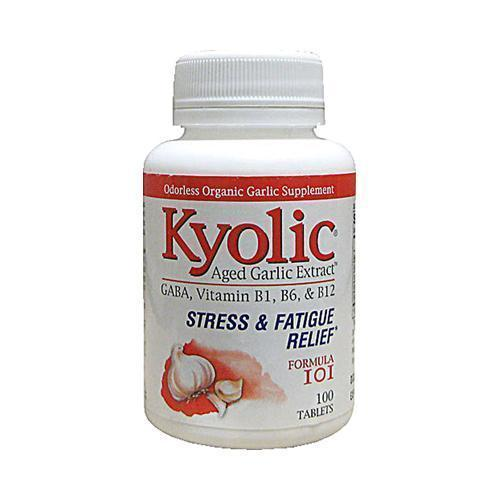 Kyolic Aged Garlic Extract Stress and Fatigue Relief Formula 101 (1x100 Tablets)