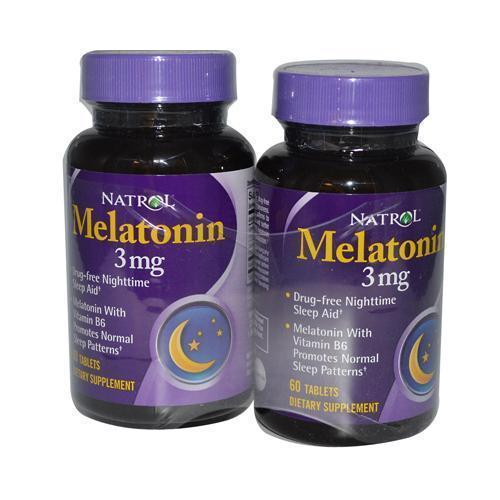 Natrol Melatonin Twin Pack 3 mg (1x60 Tablets)
