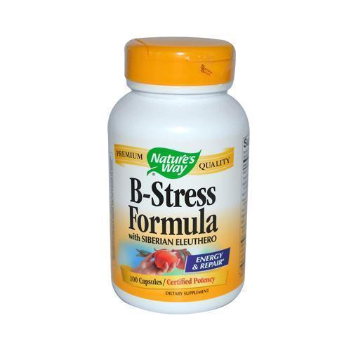 Nature's Way B-Stress Formula with Siberian Eleuthero (100 Capsules)