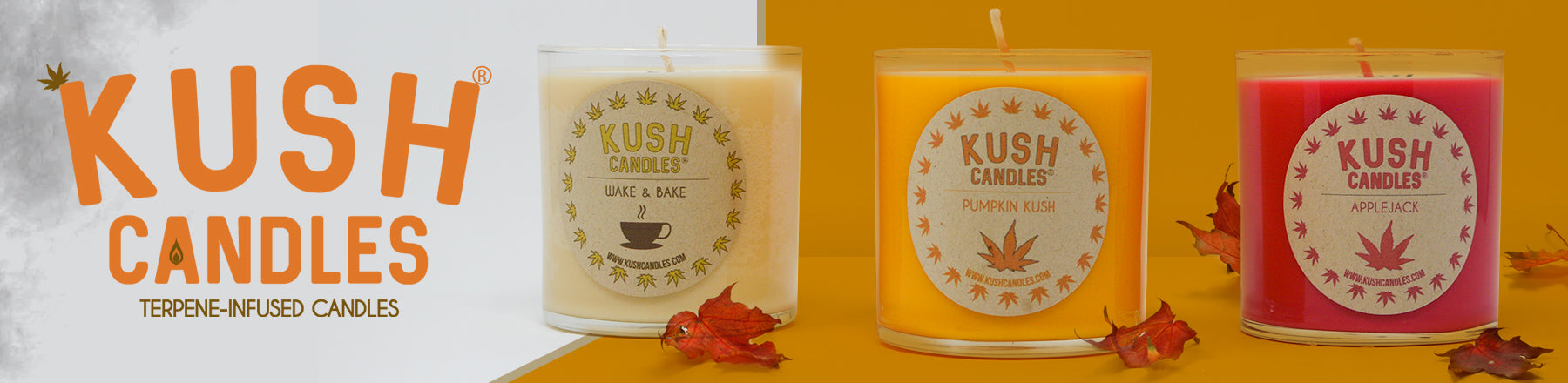 Fall Pumpkin Apple and Cinnamon Kush Candles On Sale Free Shipping