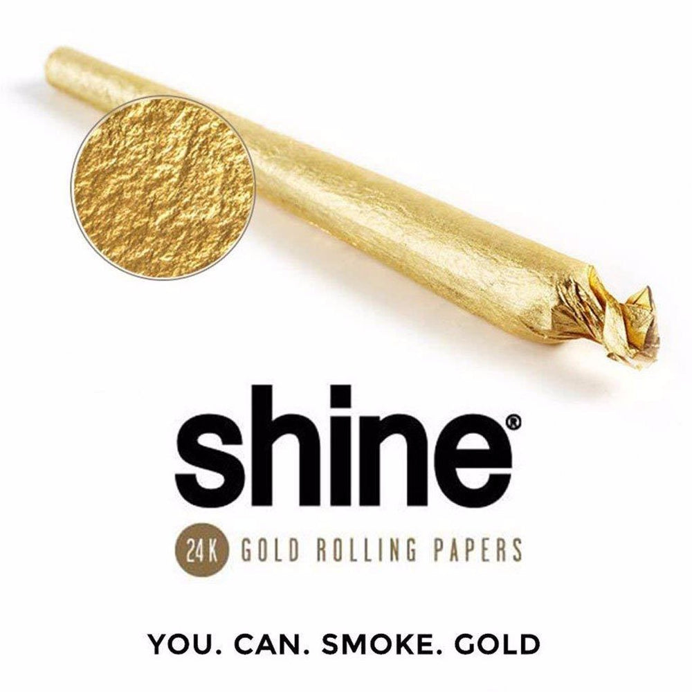 Shine - Real 24k  Gold King Size Cone Single Pack