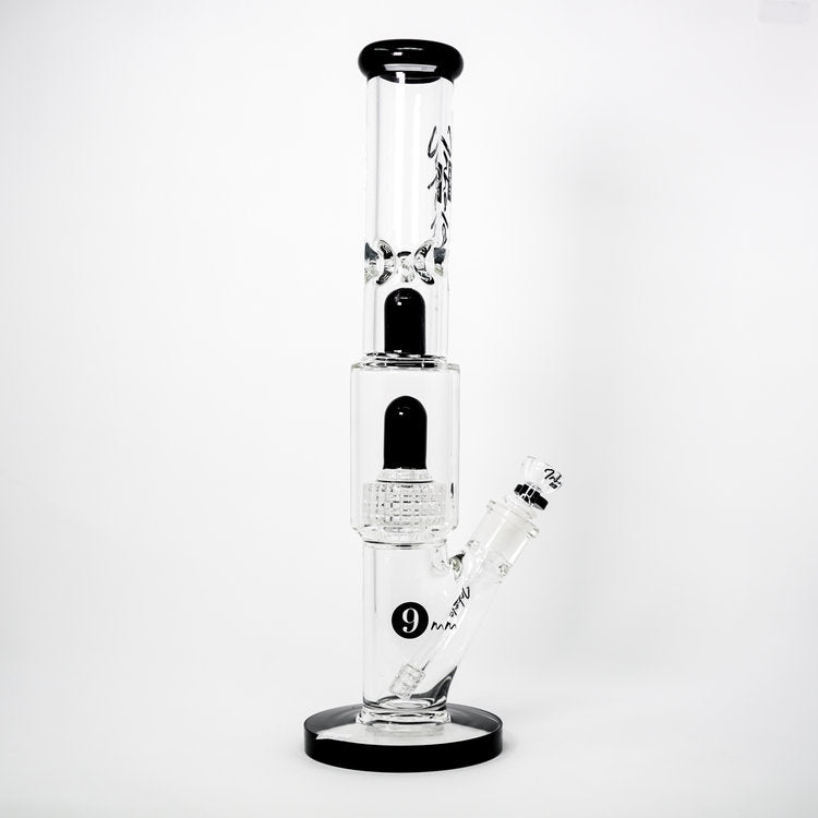 Inhale Glass 16 Inch Straight Tube Bong Water Pipe