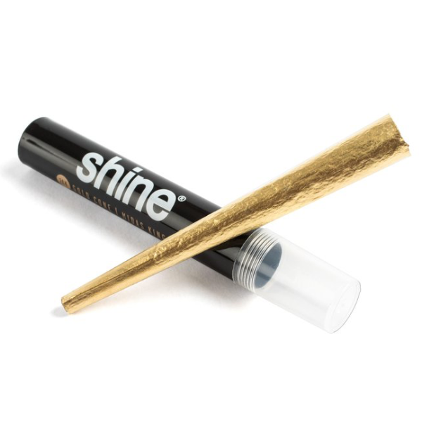 Shine Gold Rolling Paper Cones