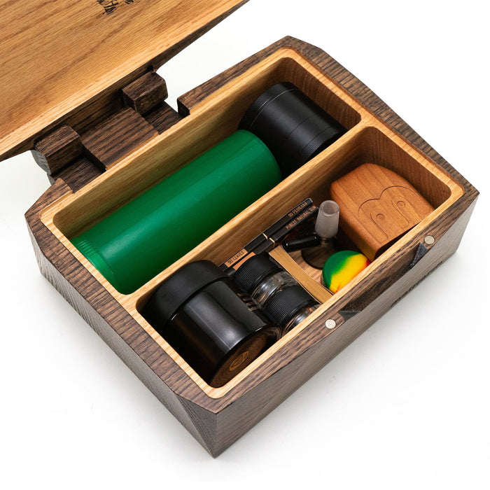 Haven - Red Oak Wood Stash Storage Box