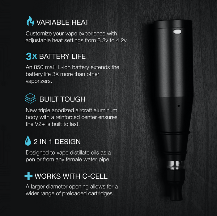 Premium Black Concentrate and Oil Vaporizer Pen Features