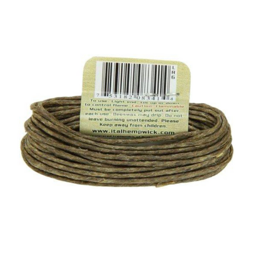 Large I-Tal Natural Hemp Wick 15.5 Foot Single Roll