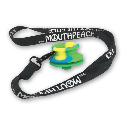 MouthPeace Slim - Blue, Green and Yellow Silicone Mouthpiece