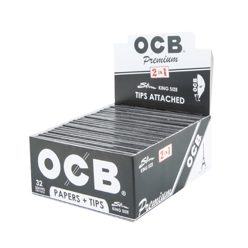 OCB Premium Rolling Papers + Tips