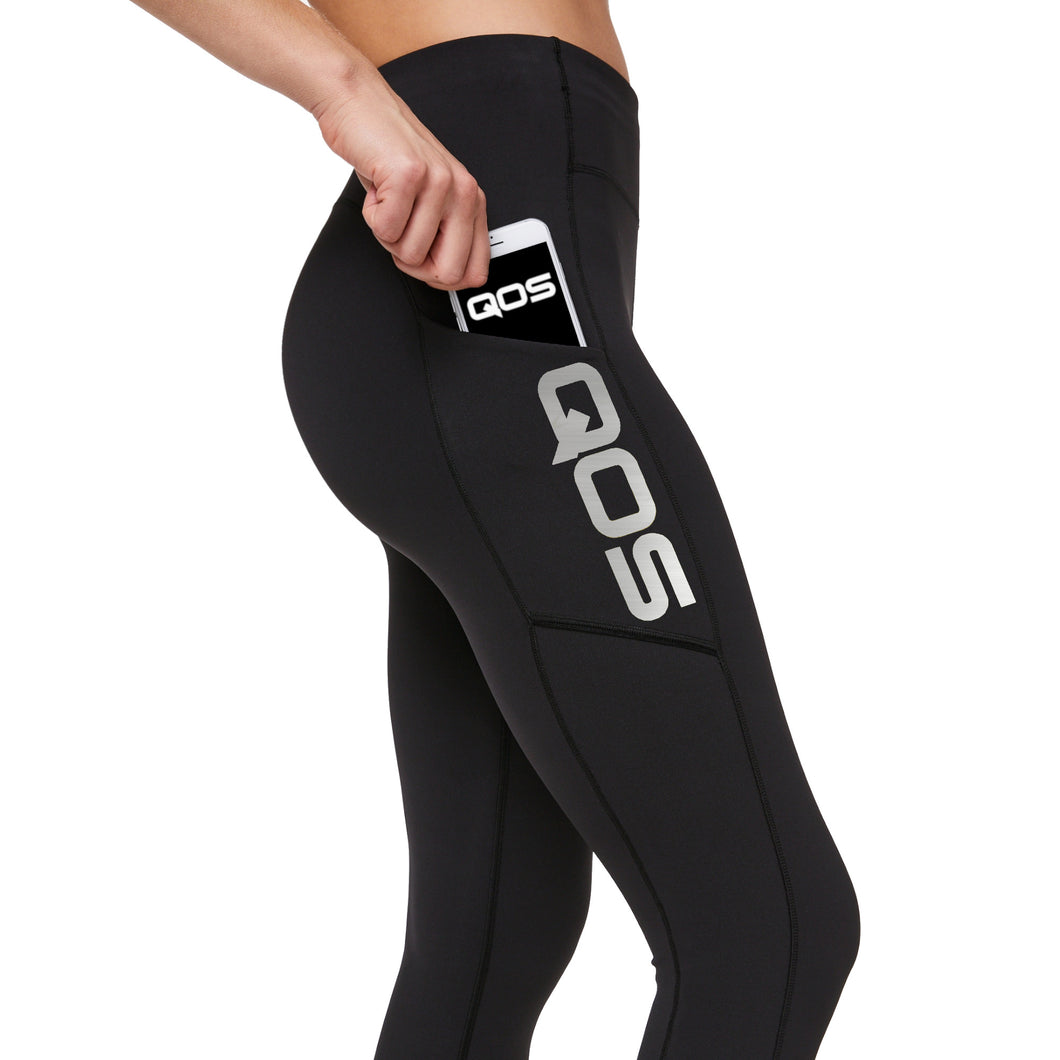 QOS - SILVER Label High Quality smooth Leggings - Sexy Original Queen Of Spades edition