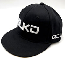 BLKD - Adjustable Baseball  Cap Hat Black/White by QOS Blacked