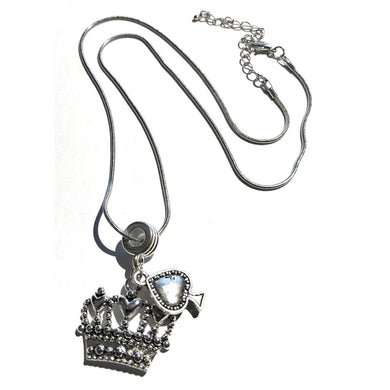 QOS Queen Of Spades - Silver Crown Charm Necklace V2 - Cuckold Jewelry