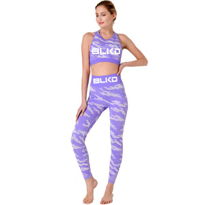 Purple Camouflage BLKD - Blacked 2 Piece Yoga Seamless Workout Outfit