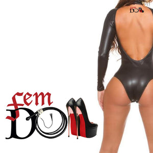 QOS - Femdom - BDSM Whip - High Qualty Temporary Tattoos - Black & Red High Heels