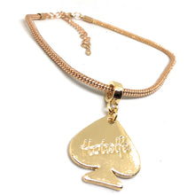HOTWIFE Engraved Spade Charm Euro Snake Anklets - Gold, Silver or Black