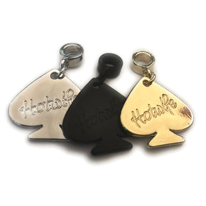 QOS - Queen Of Spades Charm - Elegant Cursive HOTWIFE engraved