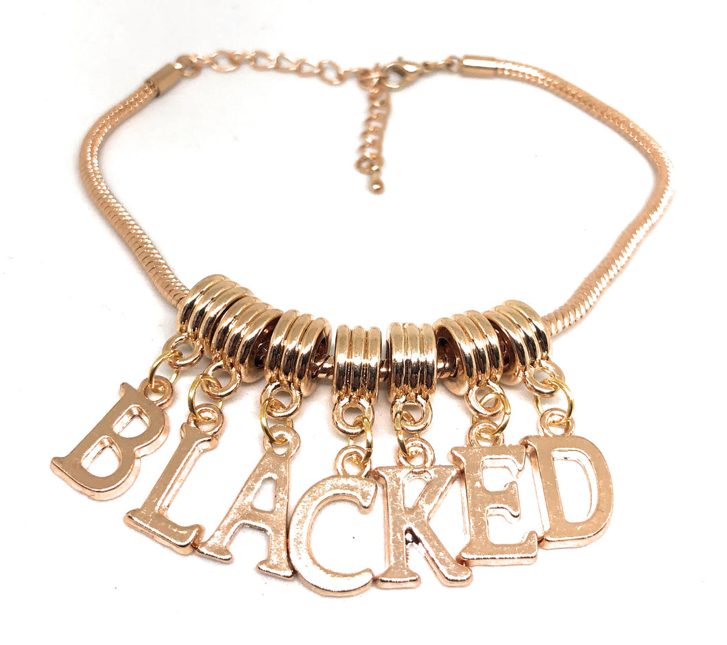 QOS - BLACKED - Rose/Gold Euro Snake Slut Anklet