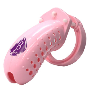"""SAD BIRDIE"" Pink Beta Boy Spade Logo Male Cuckold Chastity Cage Device"
