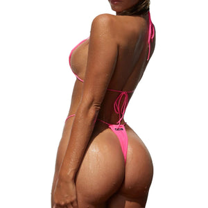 QOS Hot Pink String Bikini