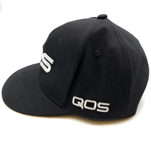 QOS - Adjustable Baseball Cap Hat Black/White Blacked Hotwife