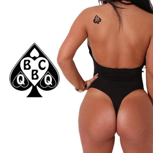 QOS - BBC Queen of Spades - High Quality Temporary Tattoos - Black & White
