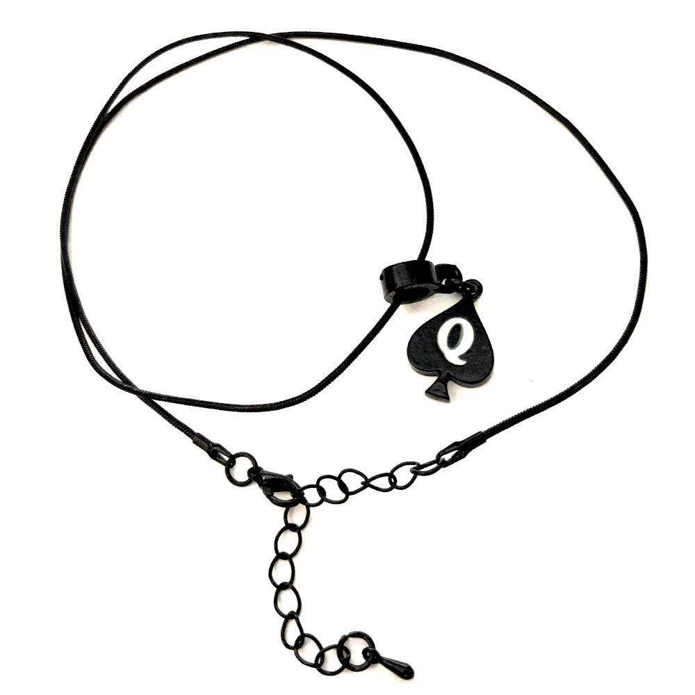 Queen Of Spades - Black Charm Necklace