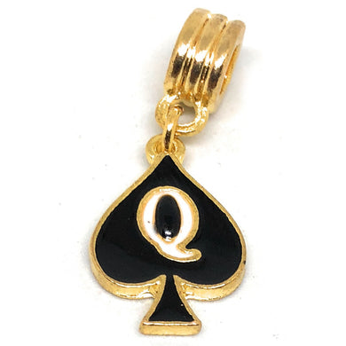 QOS - Q Spade - Queen of Spades Charm - Hotwife - Sissy - GOLD