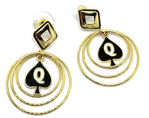 Queen Of Spades - Branded Multi Hoop Earrings for the Hotwife Vixen in you.
