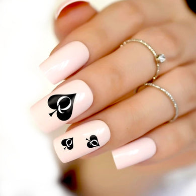 QOS SLIM - 45pcs Queen Of Spades 3D Nail Sticker Set