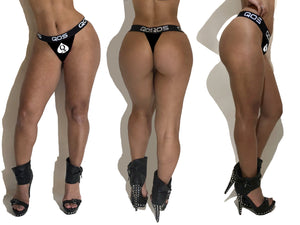Snow Bunny White QOS V1- Queen Of Spades - Hotwife, Vixen Ladies Sports Brazilian Thong Pantie